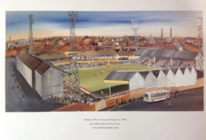 Wolverhampton Wanderers 'Molineux 1970s'  A3 print